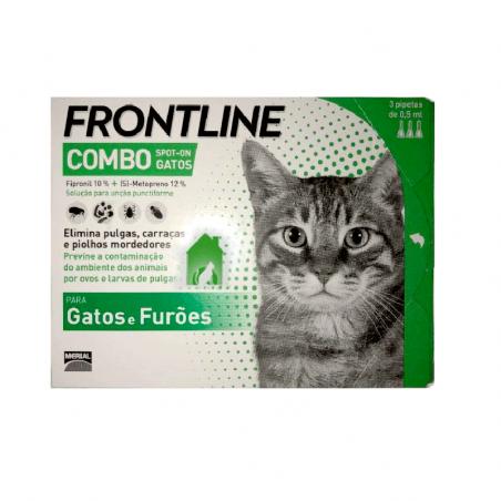 Frontline Combo Gatos - 3 pipetas