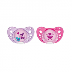 Chicco Chupeta Physio Air Látex Rosa 6-16m 2 unidades