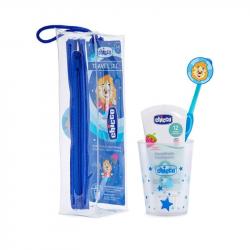 Chicco Conjunto Higiene Oral Azul 3-6 anos