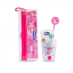 Chicco Conjunto Higiene Oral Rosa 3-6 anos