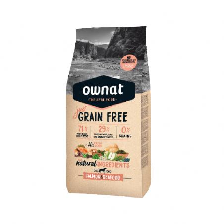 Ownat Just Grain Free Cão Adulto Salmon & Seafood 3Kg