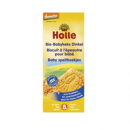 Holle Biscoitos Biológicos de Trigo Espelta para Bebé 150g
