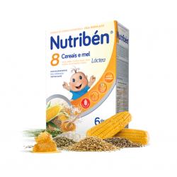Nutribén Papa 8 Cereais e Mel Láctea 6m+ 300g