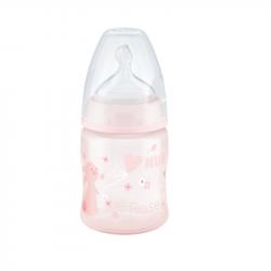 NUK First Choice+ Baby Rose&Blue Biberão Tetina Silicone Rosa 0-6m 150ml