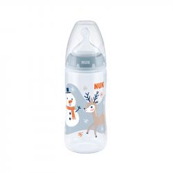 NUK First Choice+ Snow Biberão PP Tetina Silicone 0-6m 300ml