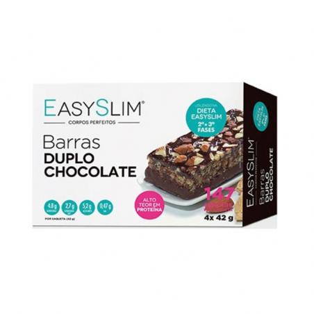 Easyslim Barras Duplo Chocolate 4x42g