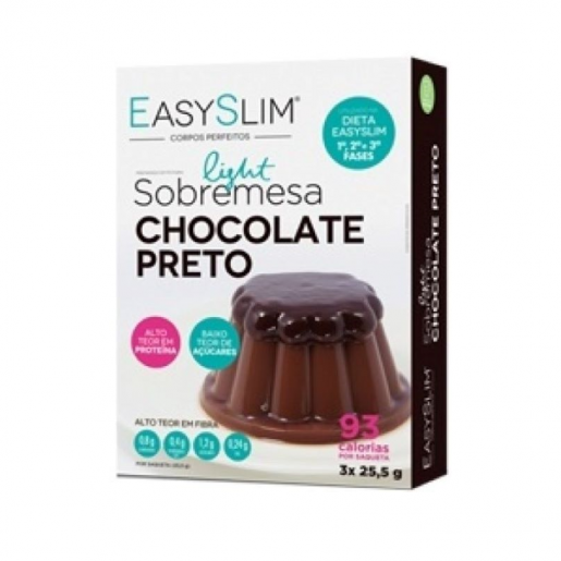 Easyslim Sobremesa Light de Chocolate Preto 3x25,5g