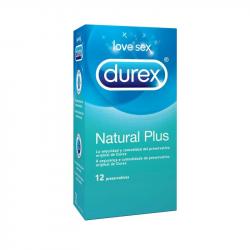 Durex Natural Plus Preservativos 12unidades