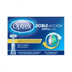 Optrex Dupla Acção Olhos com Comichão Monodoses 20x0,5ml