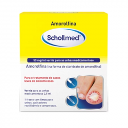 Amorolfina Schollmed 50mg/ml Verniz para as Unhas Medicamentoso 2,5ml