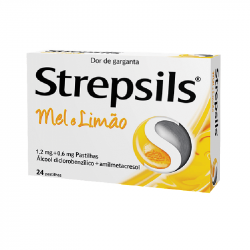 Strepsils Mel e Limão 24pastilhas