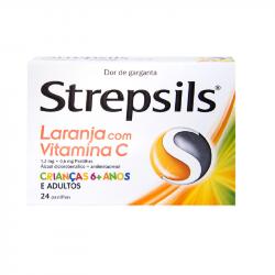 Strepsils Laranja com Vitamina C 24pastilhas