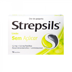 Strepsils Limão Sem Açúcar 16pastilhas