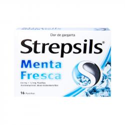 Strepsils Menta Fresca 16pastilhas