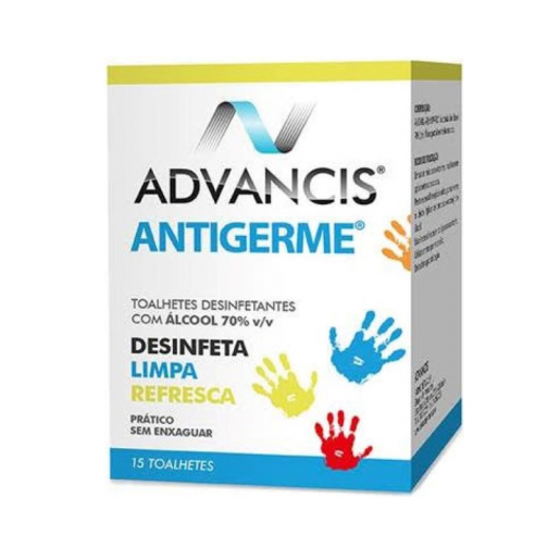 Advancis Antigerme Toalhetes Desinfectantes 15unidades