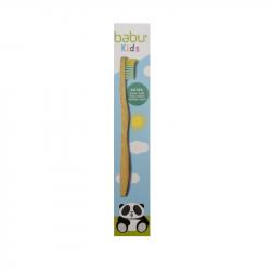 Babu Kids Escova de Dentes Bambu Infantil Extra-Suave