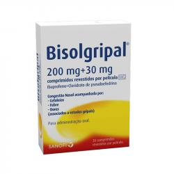 Bisolgripal 200mg+30mg 20comprimidos