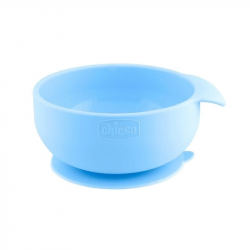 Chicco Take Eat Easy Tigela Silicone Azul 6m+
