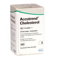 Accutrend Cholesterol Tiras Teste 25 unidades