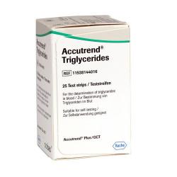 Accutrend Trigliceridos Tiras Teste 25 unidades