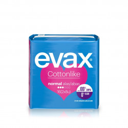 Evax Cottonlike Com Abas Normal 16 unidades